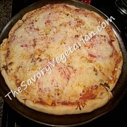 Super easy vegetarian pizza recipe