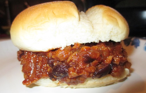 vegetarian barbecue sandwich ready to eat