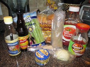 vegetarian barbecue sandwich ingredients