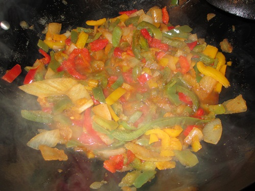 filling for vegetarian vegetable fajitas
