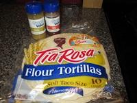 tortillas for vegetarian vegetable fajitas