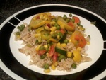 easy brown rice and vegetable stir fry recipe