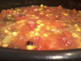 pot of vegetarian vegetable soup