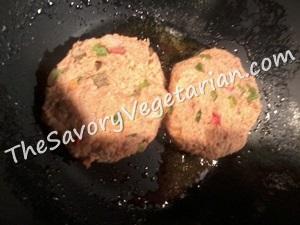 vegetarian burger patties