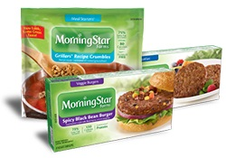 what do vegetarians eat? morningstar farms products