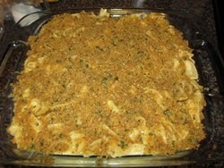prepared macaroni and cheese casserole