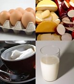 Eggs, Milk and Cheese are great sources of lacto/ovo vegetarian protein