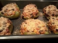 ready to bake vegetarian stuffed peppers