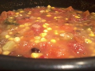 pot of vegetarian vegetable soup